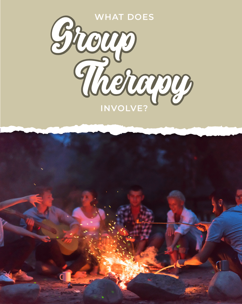 What does Group Therapy involve?